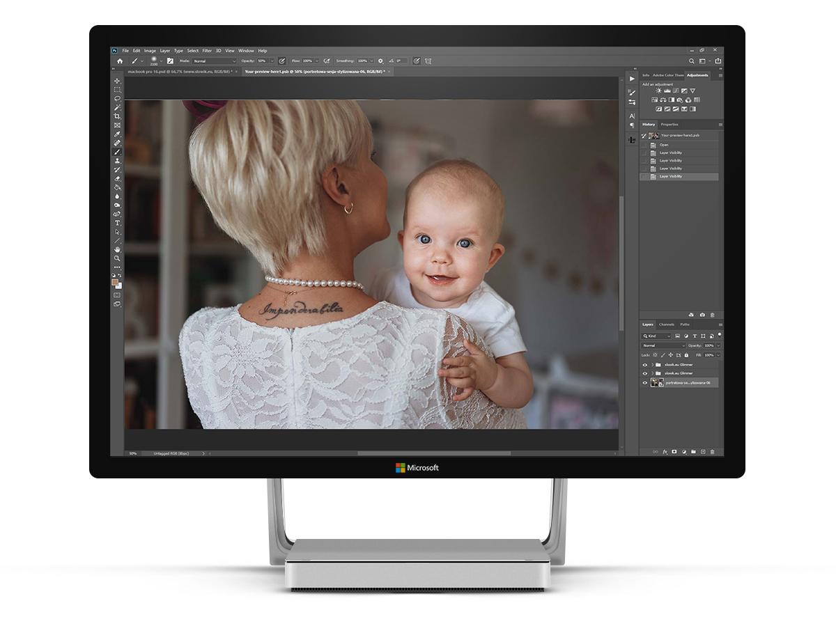 Surface Desk Microsoft Photoshop Overlay