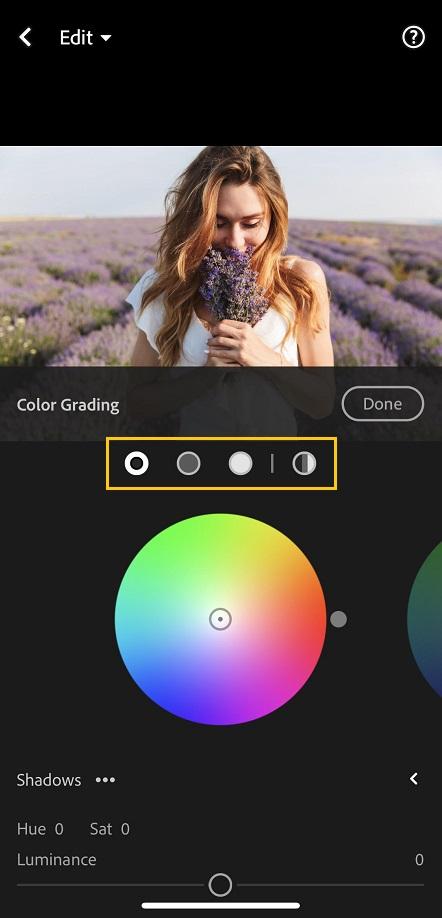 color grading lightroom mobile 6