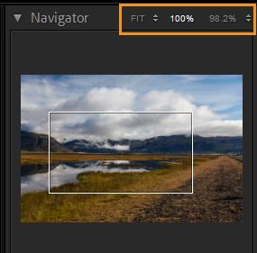 zoom levels navigator lightroom 10
